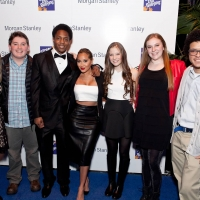Tommy Devon at the Morgan Stanley Teen Talent Showcase with MC Adrienne Bailon