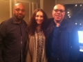 Rosalee stops by WBLS-NYC pictured with Skip Dillard-Operations Manager and Nat Martin