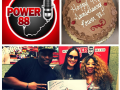 Rosalee helps KCEP Power 88.1 celebrate their 44th Anniversary shown with Morning Show Hosts Joy LaShawn & Simply T